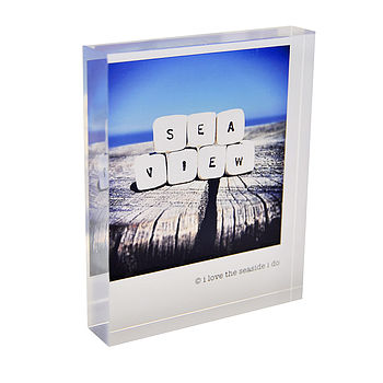 'Sea View' Acrylic Block