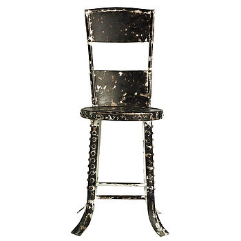 Retro Metal Factory Chair By Nordal