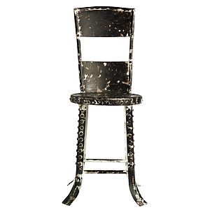 Retro Metal Factory Chair By Nordal - dining room