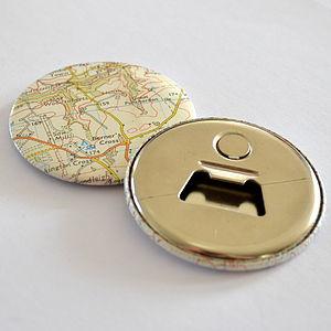 Vintage Map Magnetic Bottle Opener