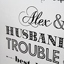 'Husband & Wife…Trouble & Strife' Print