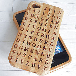 Personalised Word Search Cover For Iphone - tech accessories for her