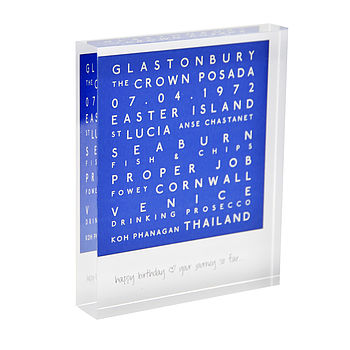 Personalised Acrylic Block Mark The Occasion