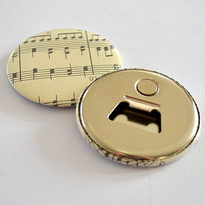 Vintage Music Magnetic Bottle Opener - wedding favours