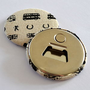 Magnetic London Fabric Bottle Opener - utensils