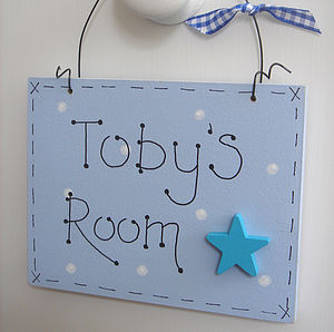 Personalised Door Plaque| Children's Door Sign - door plaques & signs