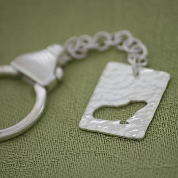 Sterling Silver Pet Silhouette Keyring