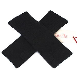 Pure Cashmere Cable Wrist Warmers - hats, scarves & gloves