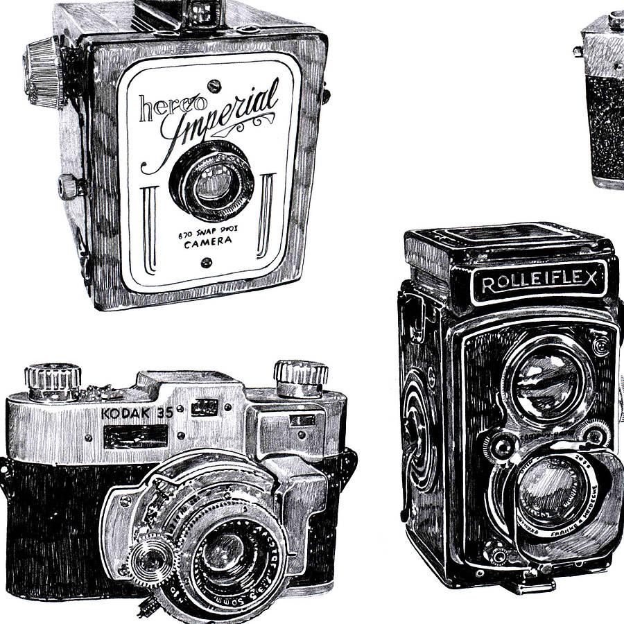 Vintage Camera Print By Ros Shiers | notonthehighstreet.com
