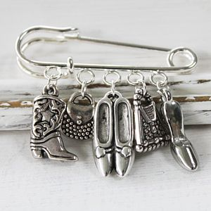 Shoes And Handbag Lovers Brooch - children's accessories