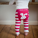 Thumb rabbit baby leggings