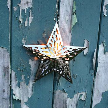 Cut Out Star Tea Light