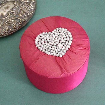 Pearl Heart Jewellery Box
