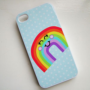 Rainbow iPhone Cover Can Be Personalised - gifts for teenagers