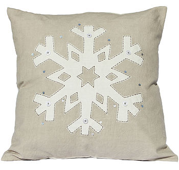 Snowflake Cushion Cover 50% Off