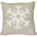 Snowflake Christmas Cushion