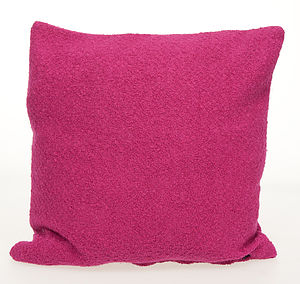 Boiled Wool Feather Cushion - cushions