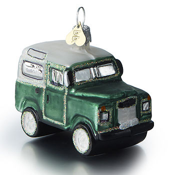 Lr Defender Glass Christmas Bauble