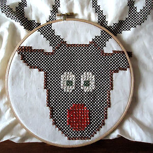 Stitch A Rudolph Tote Bag Cross Stitch Kit