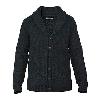 Dunderdon KN20 Wool Cable Knit Cardigan