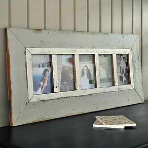 Rustic Wooden Multi Photo Frame - art & pictures
