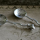 Bee Pewter Dish And Spoon