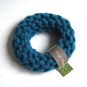 Chunky Knitted Bangle - bracelets & bangles