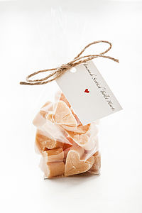 Scottish Tablet Fudge Hearts - sweet treats