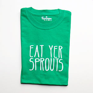Eat Yer Sprouts Christmas T Shirt - christmas parties & entertaining