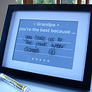 'Grandad Write On Wipe Off Message Print'