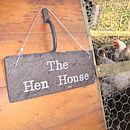 Slate Hen House Sign