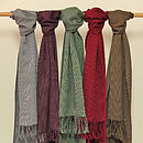 Ethical Handwoven Cotton Winter Wokola Scarf