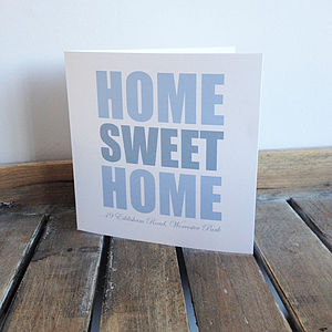 Personalised 'Home Sweet Home' Card - wedding cards