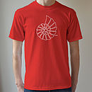 fossil t shirt red
