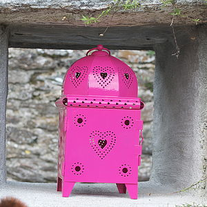 Heart Metal Lantern - outdoor decorations