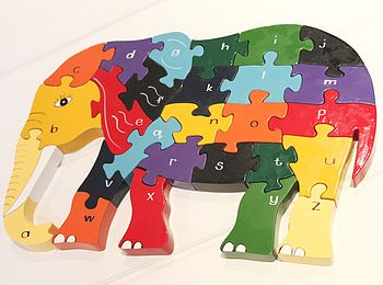 Nelly Elephant Alphabet Jigsaw