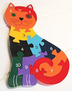 Katie Cat Number Jigsaw - board games & puzzles