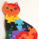 Wooden Cat Number Jigsaw