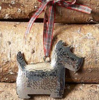 Silver Westie Christmas Tree Decoration