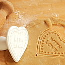 'With Love' Biscuit Stamp