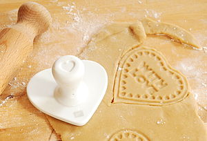 'With Love' Biscuit Stamp - gifts for bakers