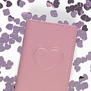Leather Oyster Card Holder With Heart Embossing