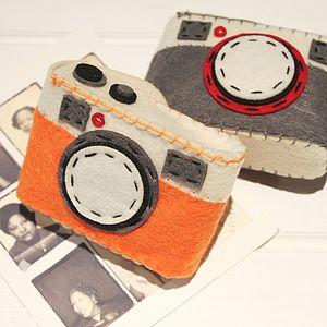 Grey Felt Camera Case