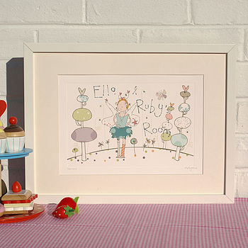 Personalised Print Of Fairy Garden
