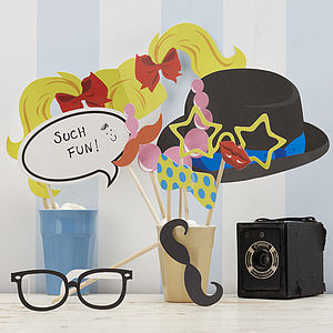 Photo Booth Party Props - bright wedding ideas