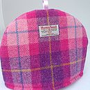 Harris Tweed Tea Cosy - pink check