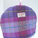 Harris Tweed Tea Cosy - light purple check