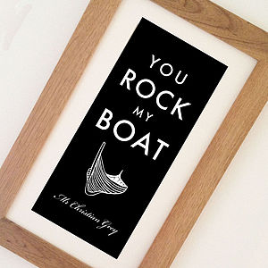 'You Rock My Boat' Personalised Print - art & pictures