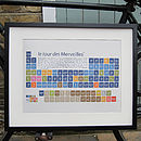 Tour De France Periodic Table Art Print