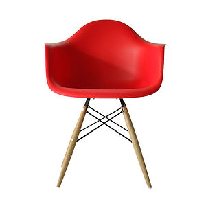 Chair, Eames Style Wood Base Chair - kitchen